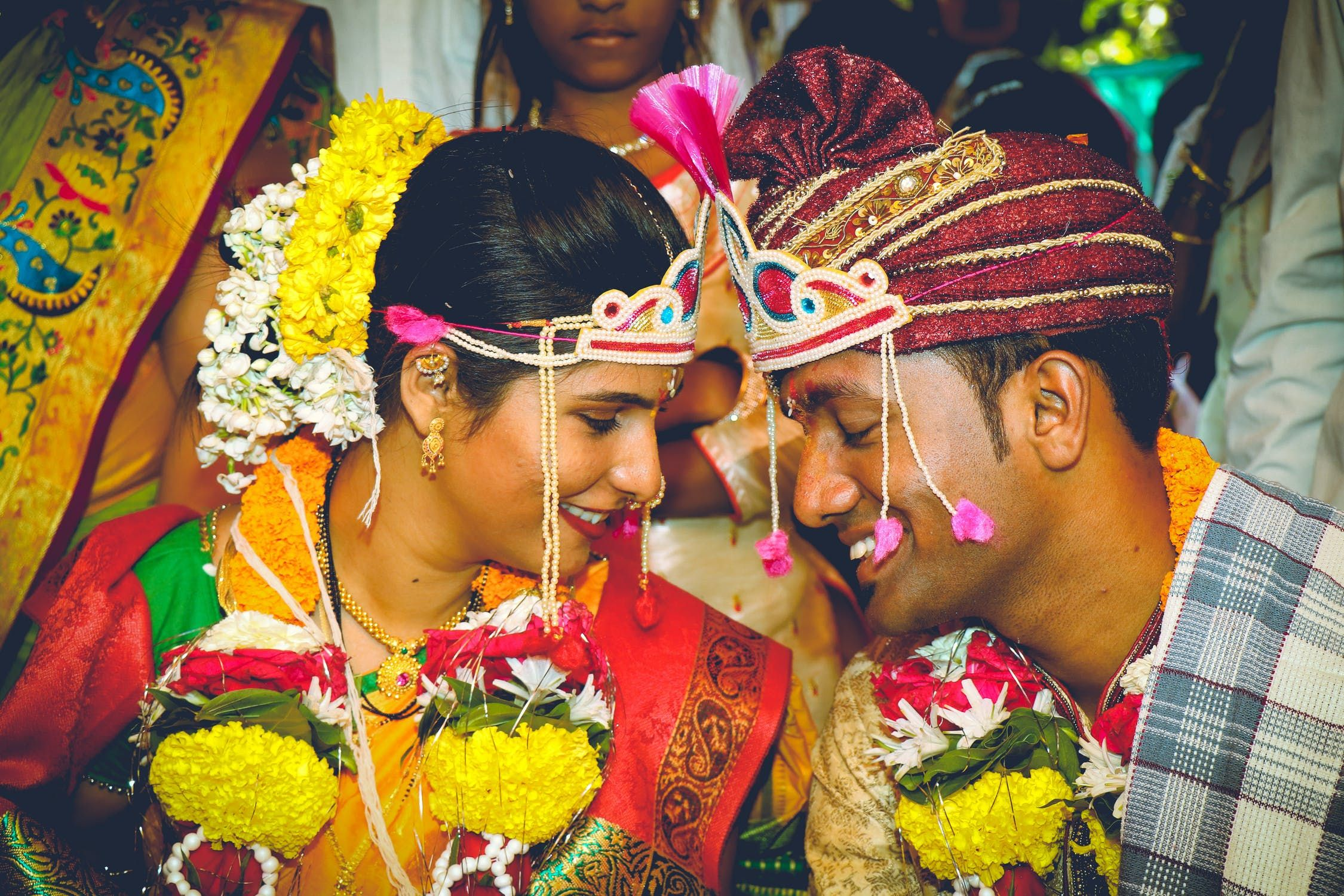 An Indian couple getting married