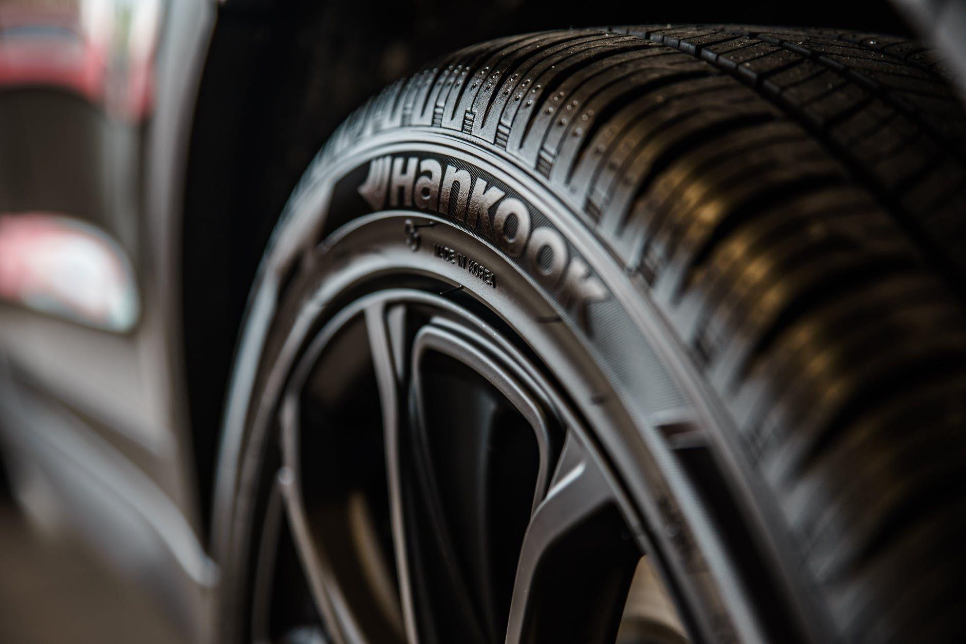 A black car tire