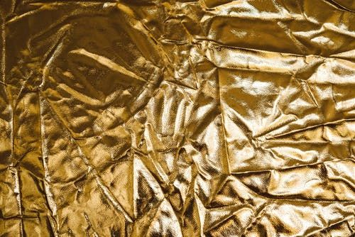 A large piece of gold textile