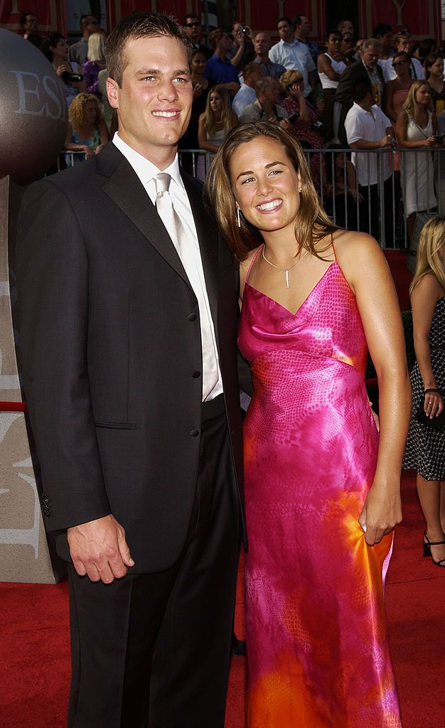 Tom Brady and sister during 2002 ESPY Awards - Arrivals at The Kodak Theater in Hollywood