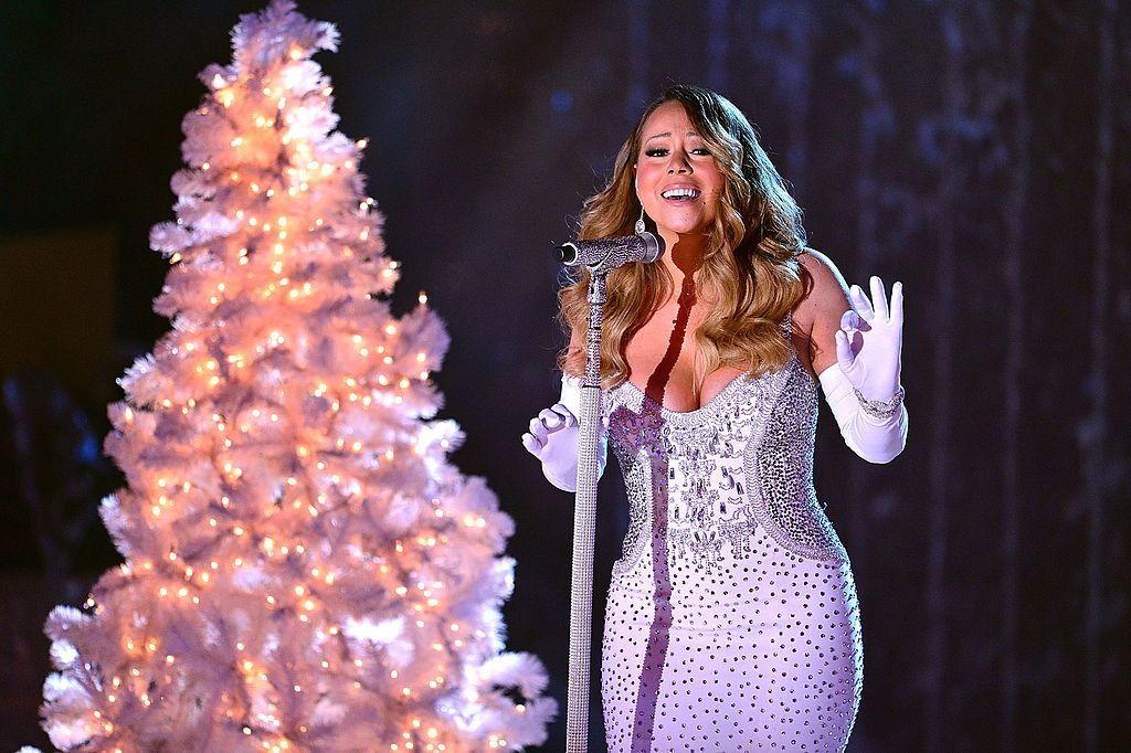 Mariah Carey performs at the 81st Annual Rockefeller Center Christmas Tree Lighting Pre-Tape at Rockefeller Center