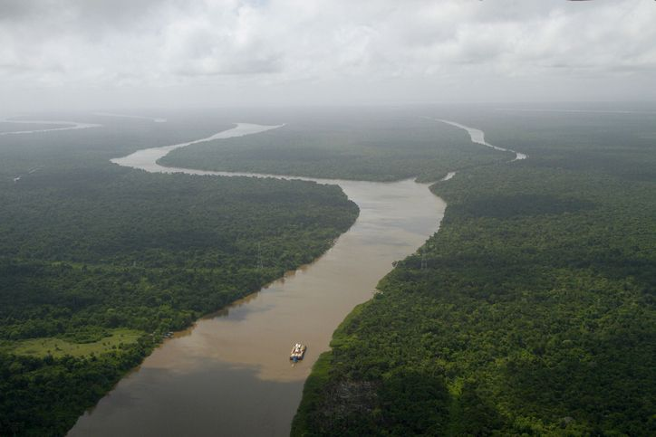 Ariel view of the amazon river