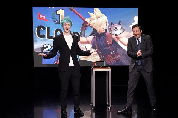 ninja and jimmy fallon showcase super smash bros. ultimate game