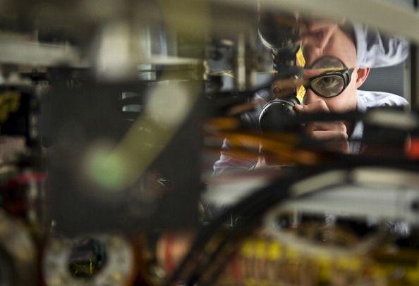 scientist works on quantum physics