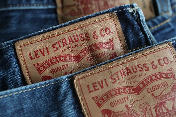 Close up of Levi's Jeans pile