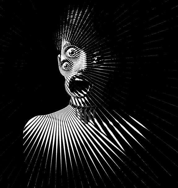 scary Illustration of three eyed woman