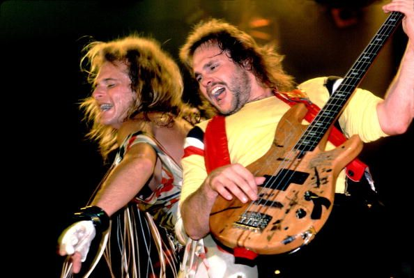 David lee roth and anthony rocking out together