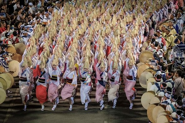 Choreographed dance of japanese gfstical