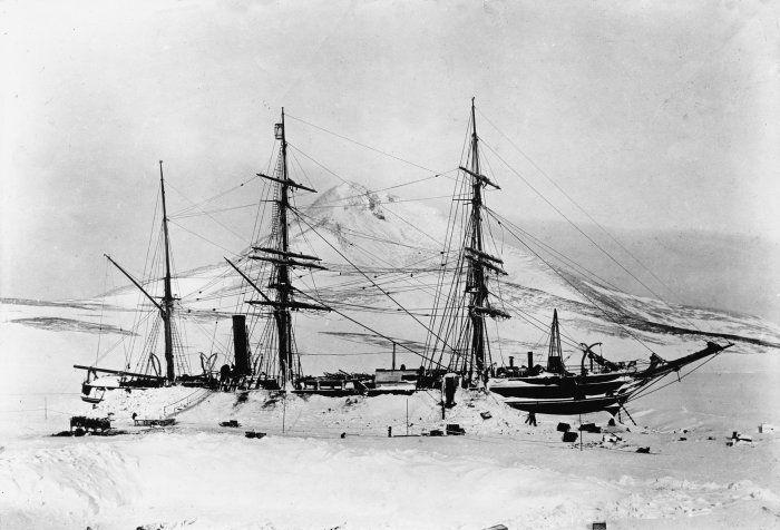 ship on antarctica